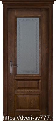 Дверь Аристократ №2 дуб АНТИЧНЫЙ ОРЕХ
