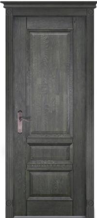 Дверь Аристократ № 1 дуб структур. ЭЙВОРИ БЛЕК