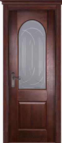 Дверь Чезана дуб структур. МАХАГОН