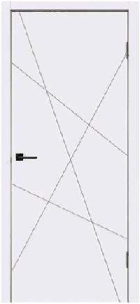 Дверь Scandi S, белый RAL 9003