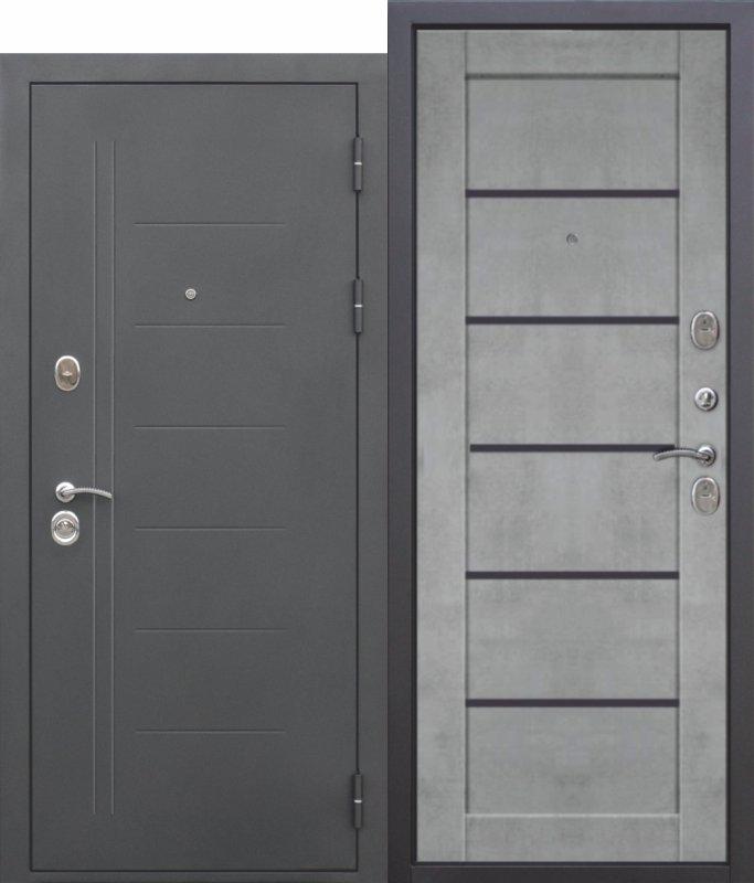 10 см ТРОЯ Муар Царга бетон Серый
