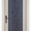 Дверь Витраж ольха БЕЛАЯ ЭМАЛЬ
