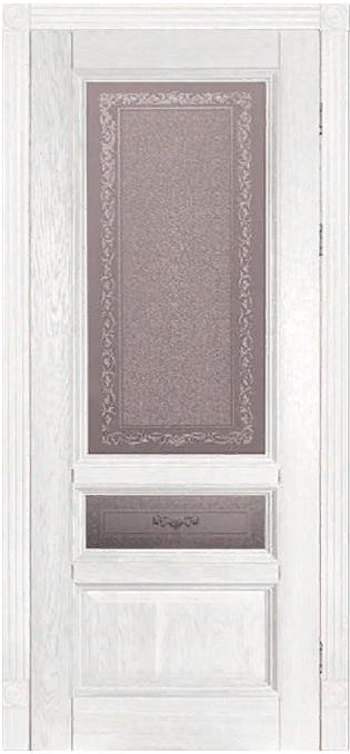 Дверь Аристократ № 3 дуб ВАЙТ