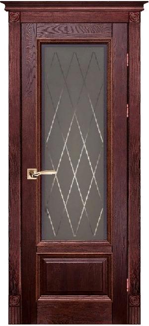 Дверь Аристократ № 4 дуб МАХАГОН