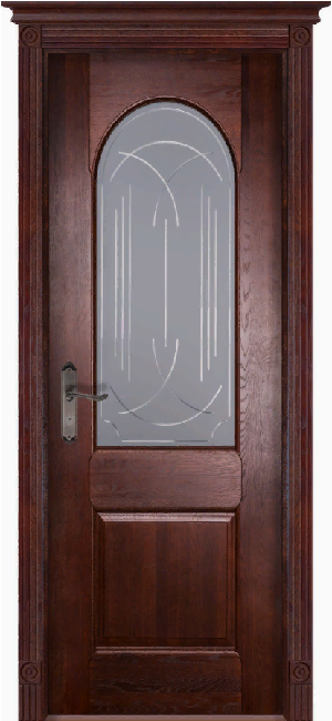 Дверь Чезана дуб МАХАГОН