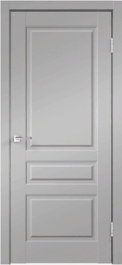 Дверь VILLA 3P эмалит серый