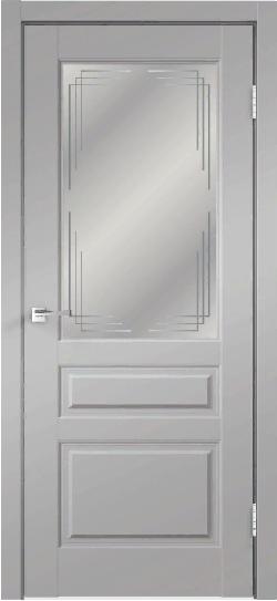 Дверь VILLA 3V эмалит серый